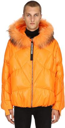 Goose Down Jacket With Fur