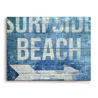 Click Wall Art SurfSide Beach Textual Art Plaque