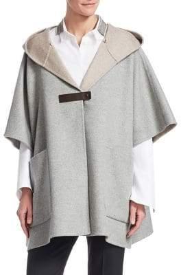 Fabiana Filippi Cashmere& Wool Poncho Coat