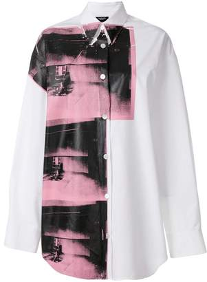 Calvin Klein x Andy Warhol Foundation Little Electric Chair shirt dress
