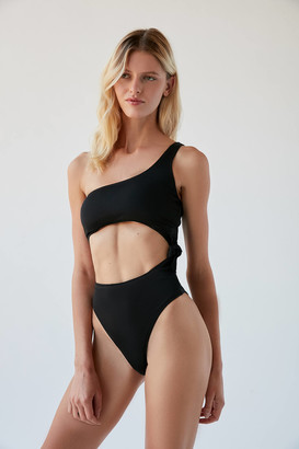 Out From Under One-Shoulder One-Piece Swimsuit