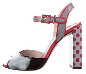 Fendi Printed Block Heels