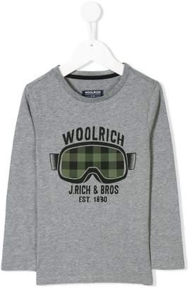 Woolrich Kids goggles print T-shirt