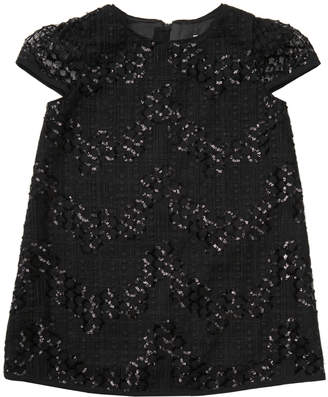 Milly MINIS GEO SEQUIN TULLE CHLOE DRESS