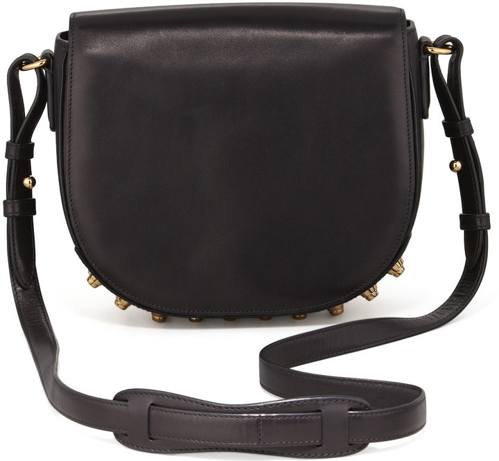 Alexander Wang Lia Small Leather Crossbody Bag, Black