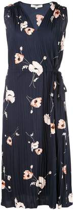 Vince tossed poppy pleated dress