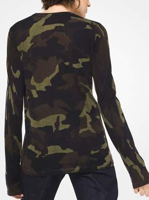 Michael Kors Camouflage Cashmere Pullover