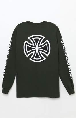 Independent Double Bar/Cross Long Sleeve T-Shirt