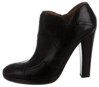 Alaia Brogue Ankle Boots