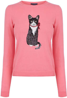 Oasis Cat Sequin Jumper