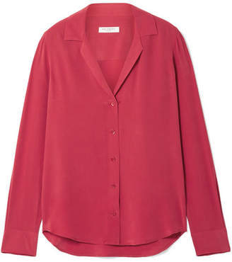 Equipment Adalyn Washed-silk Shirt - Red