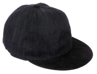 Opening Ceremony People Suede & Denim Cap w/ Tags