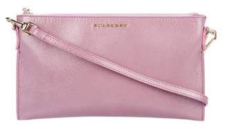 Burberry Patent Leather Zip Shoulder Bag