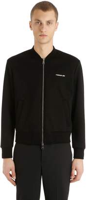 Neil Barrett Bolts Neoprene Bomber Sweatshirt