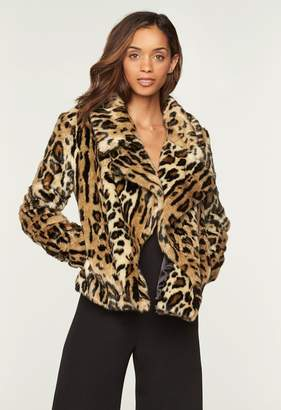 MillyMilly Cheetah Faux Fur Cole Jacket