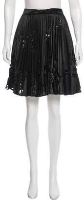 Valentino Sequin Plisse Skirt