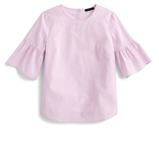 Women's J.crew Bell Sleeve Button Back Top $59.50 thestylecure.com