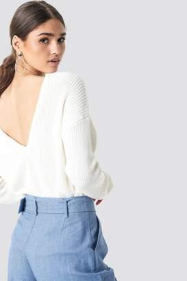 NA-KD Na Kd Knitted Deep V-neck Sweater