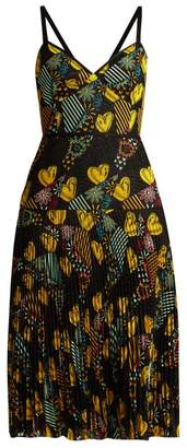 Fendi Embroidered Lace Dress - Womens - Multi