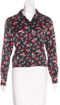 Reformation Floral Print Button-Up Top