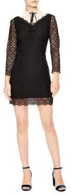 Sandro Notting Hill Cristina Lace A-Line Dress