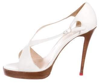 Christian Louboutin Leather High-Heel Sandals
