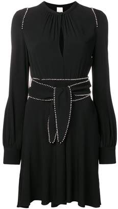 Pinko stud trim flared dress