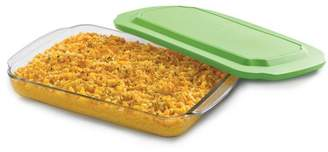 Libbey Baker's Basics Glass Casserole Baking Dish with Plastic Lid, 9-inch by 13-inch