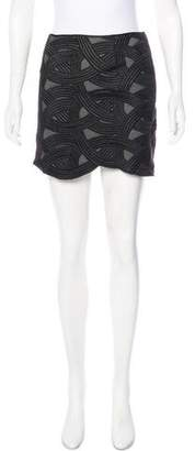 Robert Rodriguez Embroidered Mini Skirt
