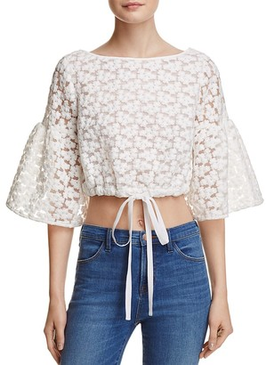 MILLY Lydia Floral Embroidered Top $325 thestylecure.com