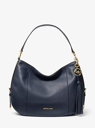 Michael Kors Brooke Large Pebbled Leather Shoulder Bag