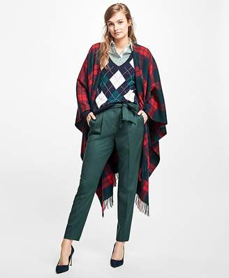 Plaid Wool Ruana $228 thestylecure.com
