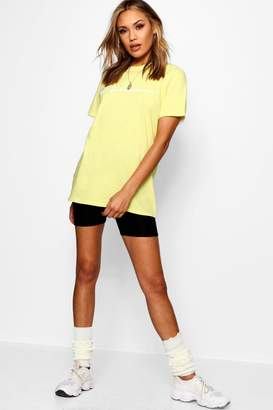 boohoo Woman Slogan Pastel T-shirt