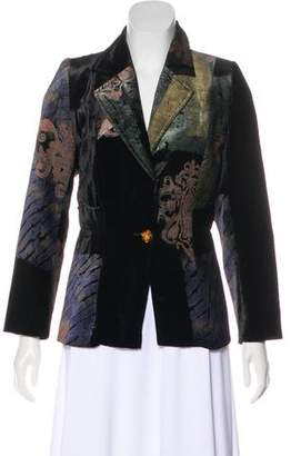 Christian Lacroix Velvet Notch-Lapel Blazer
