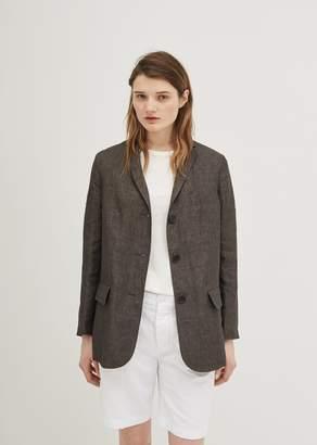 Aspesi Linen Blazer Grey