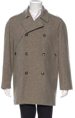 Hermes Double-Breasted Wool Car Coat