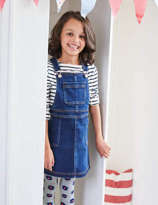 Boden Jersey Denim Dungaree Dress