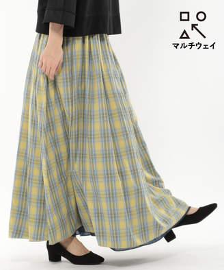 LAKOLE 【マルチウェイ】マドラスチェック柄リバーシブルスカート