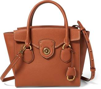 Ralph Lauren Pebbled Leather Medium Satchel