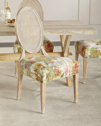 John-Richard Collection John Richard Collection Bloom Oval Back Cane Chair