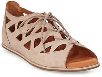 Gentle Souls Betsi Laser-Cut Lace-Up Sandals
