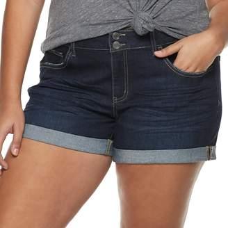 39e1f1bcfe So Juniors' Plus Size SO Double Roll Cuff Midi Shorts