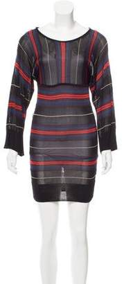 French Connection Striped Knee-Length Dress