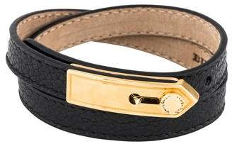 Burberry Leather Double Wrap Bracelet