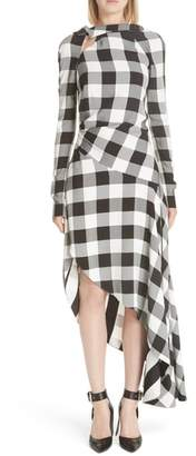 Monse Asymmetrical Gingham Dress