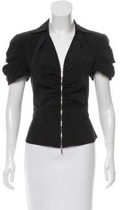 Karen Millen Zip-Accented Structured Top $75 thestylecure.com