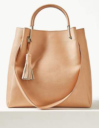 Marks and Spencer Faux Leather Double Handle Shoulder Bag