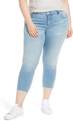 SLINK Jeans Raw Hem Crop Skinny Jeans