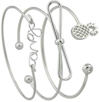 Shein Silver Bow Pineapple Bracelet