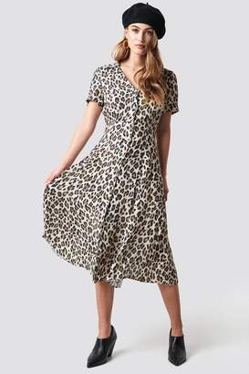 MANGO Roma Dress Brown